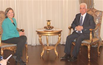 U.S Diplomat Victoria Noland and TRNC President Dervis Eroglu