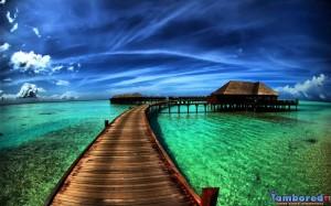 deniz ve köprü