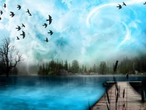 Çok güzel bir doğa resmi