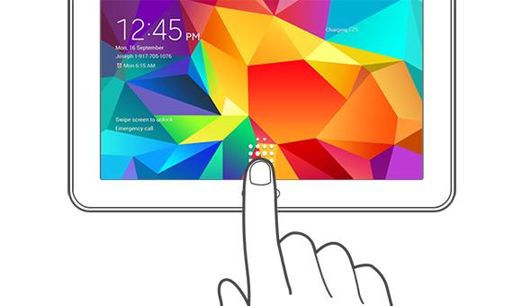 Samsung Galaxy Tab S'te parmak izi özelliği olacak