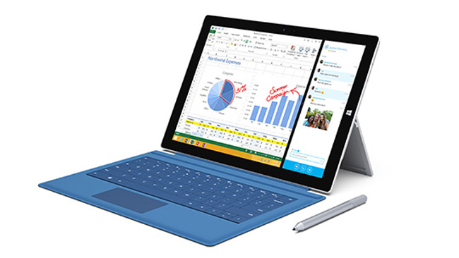 Microsoft  Pro 3 tableti Surface tanıttı