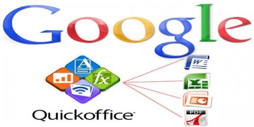 Google Docs yenileniyor ve Quickoffice kaldırılıyor.