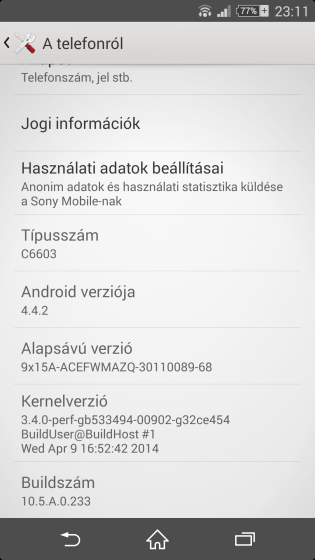Sony Xperia Z Güncellemesi Yayınlandı