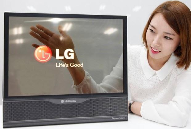 LG 18 inc'lik katlanabilen OLED ekranı