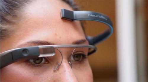 GooGLE Glass ile düşünce gücü komutu.
